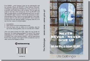 "Buch ""Never never – never give up!"""